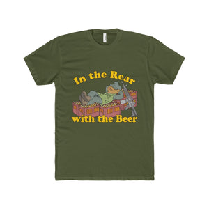 """In the Rear with the Beer"" Men's Cotton Crew Tee"