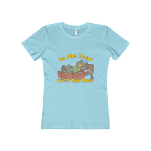 """In the Rear with the Beer"" Women's The Boyfriend Tee"