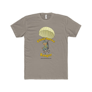 """Chair-borne Ranger"" Men's Cotton Crew Tee"