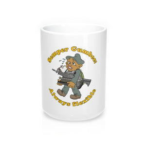 """Semper Gumbee: Always Flexible"" Coffee Mug 15oz"