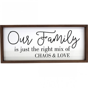 Wooden Sign- Our Family
