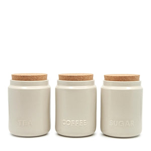 Strand Canister Set Of 3 Stone