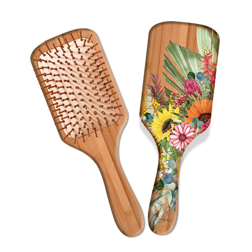 Bamboo hairbrush- Floral