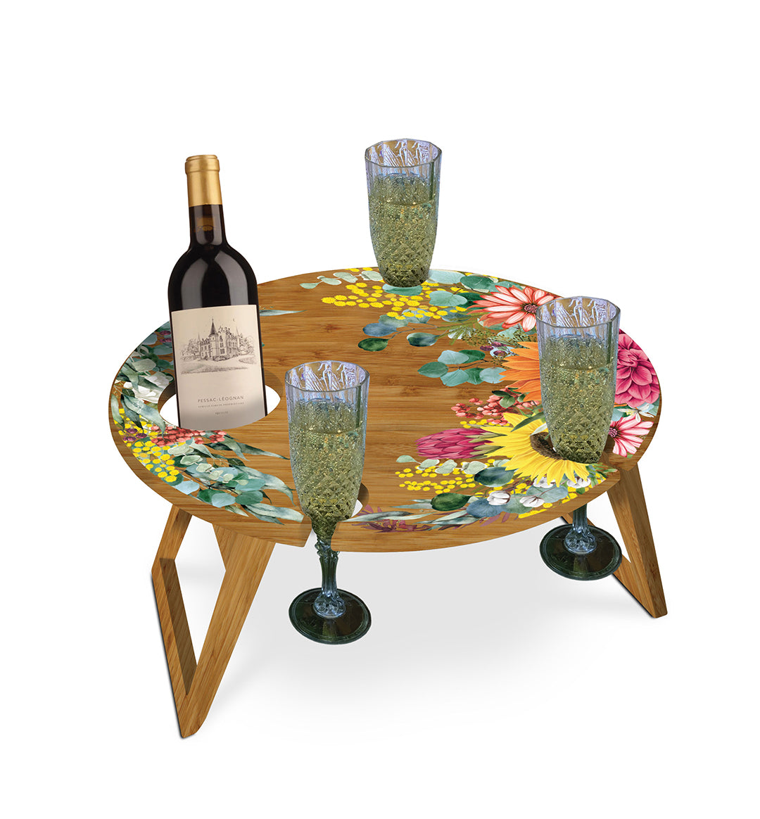 Round Picnic Table- Floral
