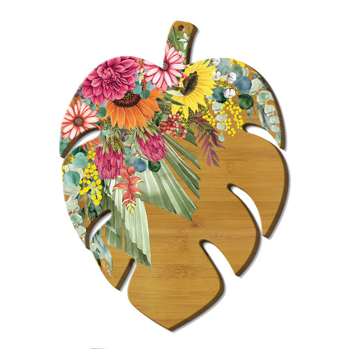 Leaf Shaped Platter- Floral