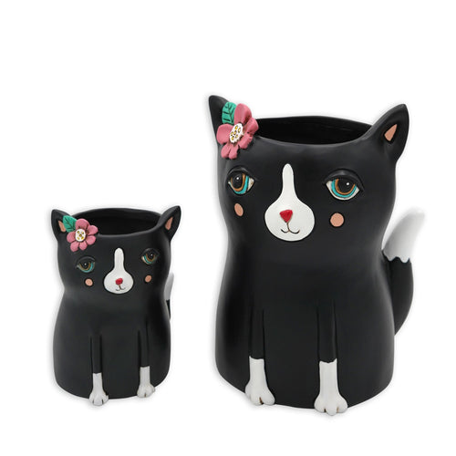 Pretty Kitty Black Planter