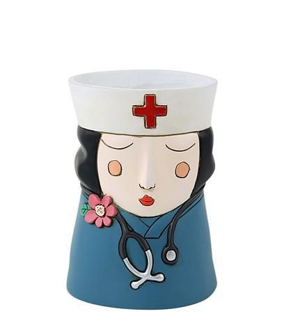 Medi Girl Black Hair Planter