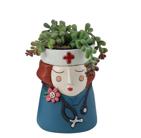 Medi Girl Red Hair Planter
