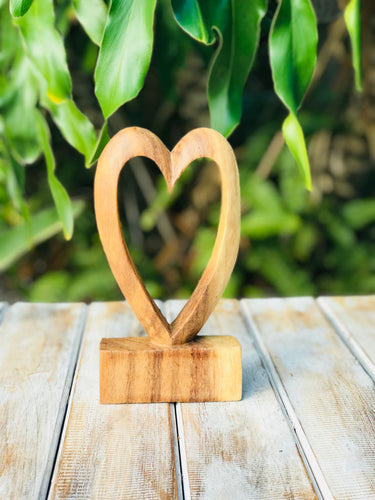 Single Wooden Heart