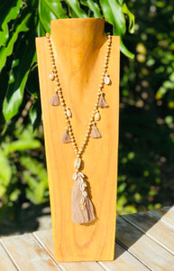 Boho Shell and Tassel Necklace