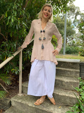 Noosa High-low Blush Blouse
