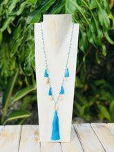 Triple Tassel with Shell Necklace