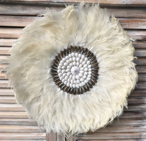 Large White Juju Hat