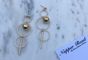 Triple Circle Drop Earring