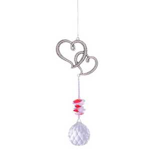 Eternity Crystal Sun Catcher- Hearts