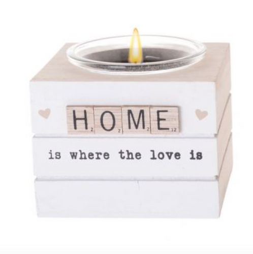 HOME Scrabble Hearts Candle Holder