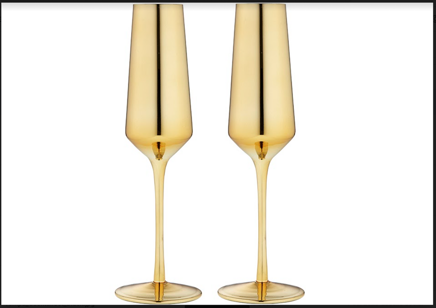 Aurora Gold Champagne Glass 2PCK