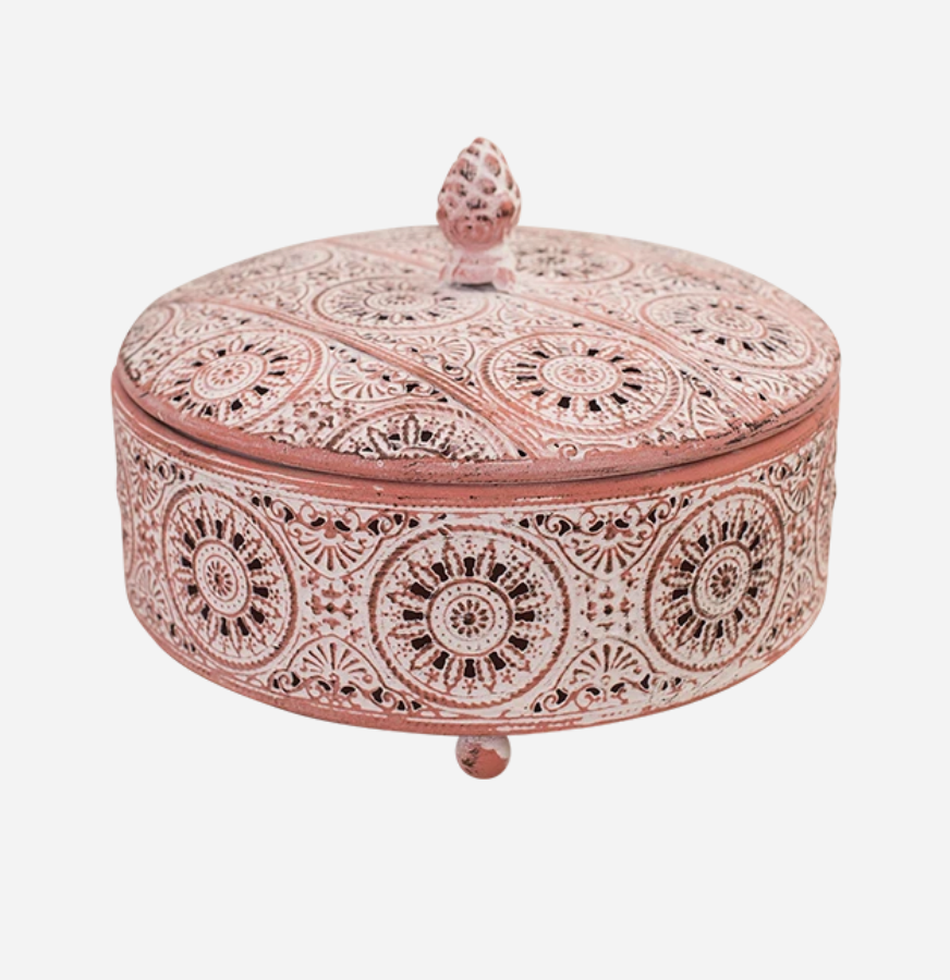 Metal Lace Trinket Box