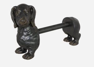 Kitchen Paper Towel Dispenser - Sausage Dog Black