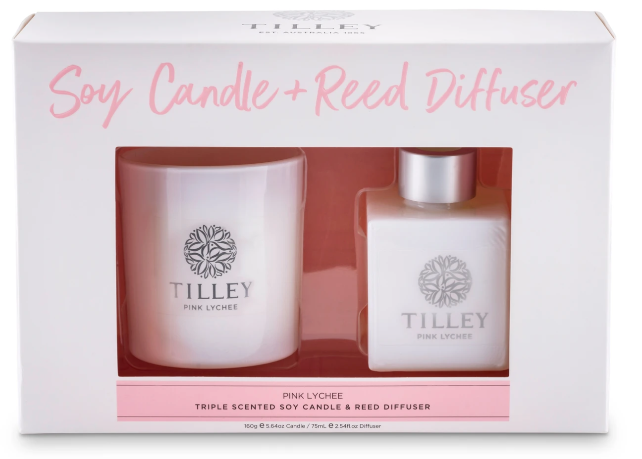 Tilley Candle And Reed Gift Set- Lychee