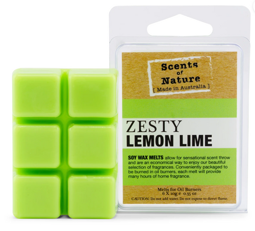 Scents Of Nature Melts- Zesty Lemon Lime