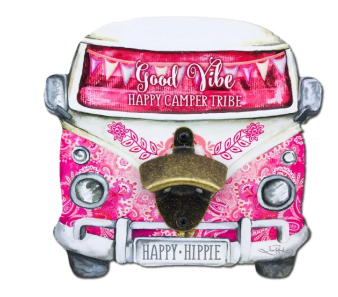 Pink Kombi Wall Bottle Opener