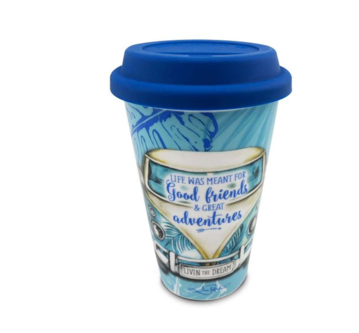 Travel Mug Blue Kombi