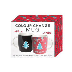 Christmas Get Lit Colour Changing Mug