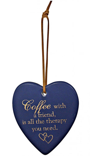 Hanging Heart Navy Coffee