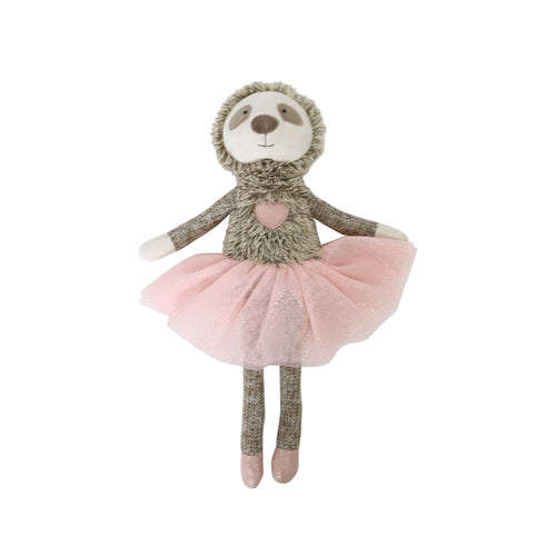 Furry Little Friends Pink Sloth Plush