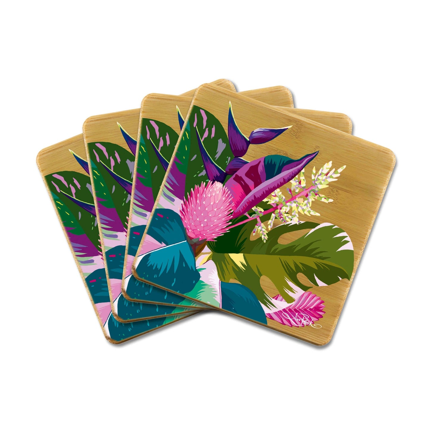 Bamboo Coasters Tropical