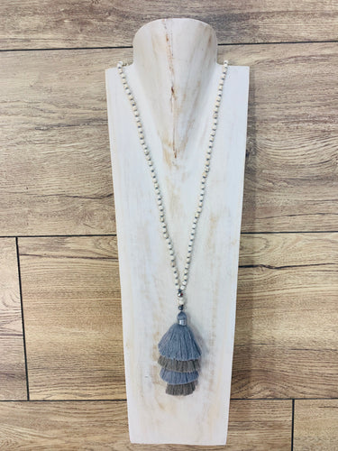 Multi Layer Grey Necklace