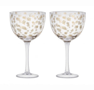 TULIP GLASS SET/2