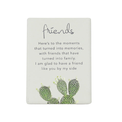 Natural Oasis Friends Ceramic Magnet