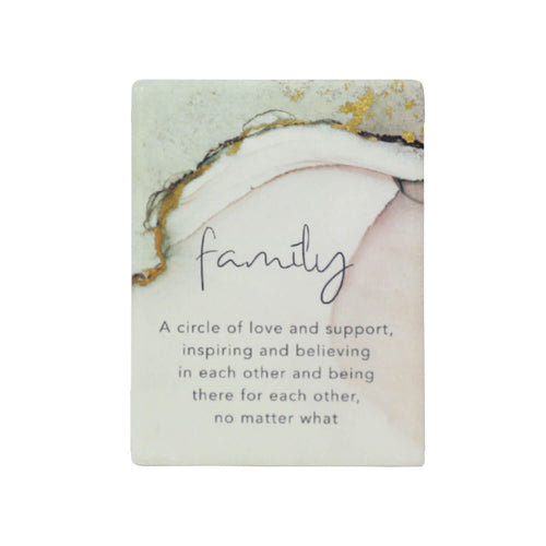 Natural Oasis Family Ceramic Magnet