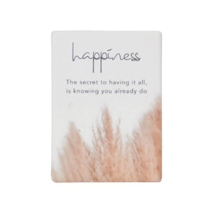 Natural Oasis Happiness Ceramic Magnet