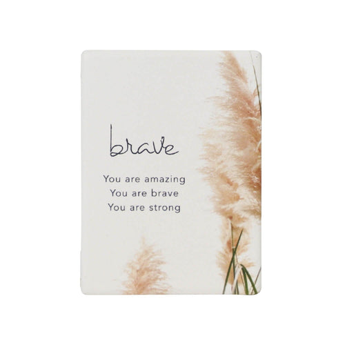 Natural Oasis Brave Ceramic Magnet