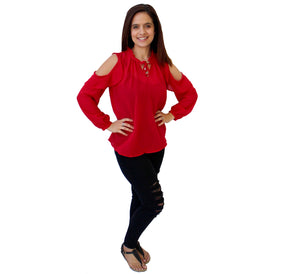 Chantelle Blouse Red
