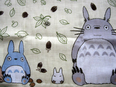 totoro square cotton gauze handkerchief