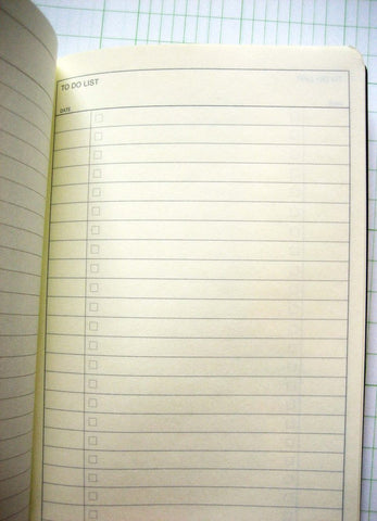 to-do list little notebook
