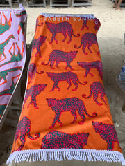 Beach Towel - Multiple Leopard - Elizabeth Summer