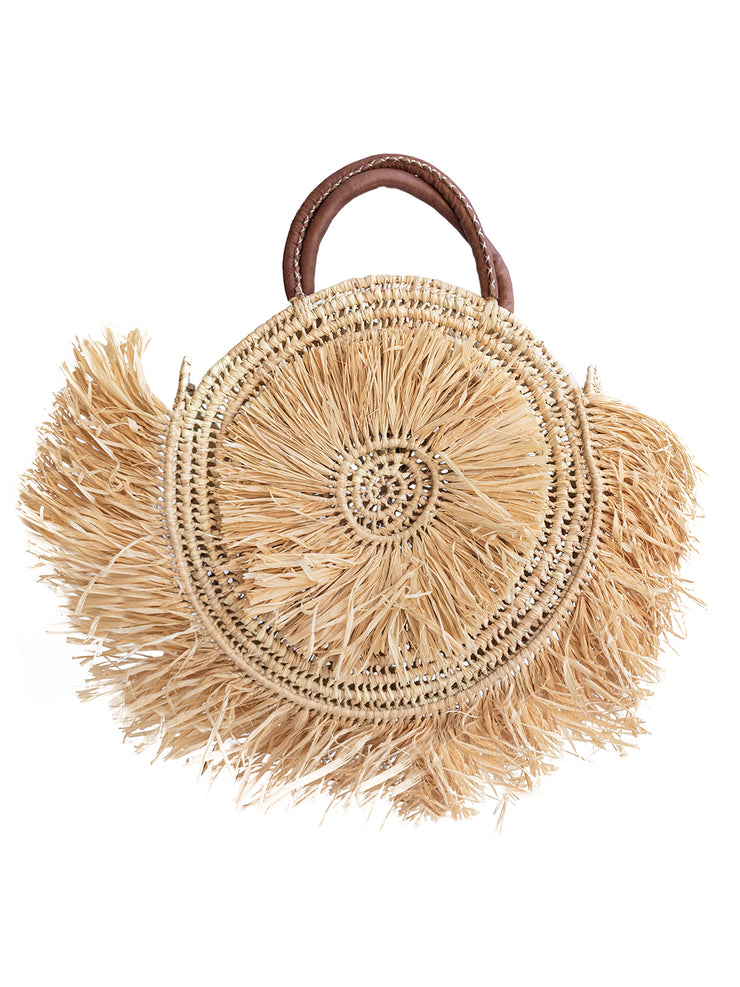 Moroccan Collection - Raffia Round Basket - Elizabeth Summer