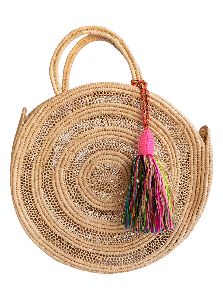 Moroccan Collection - Round Raffia Basket - Elizabeth Summer