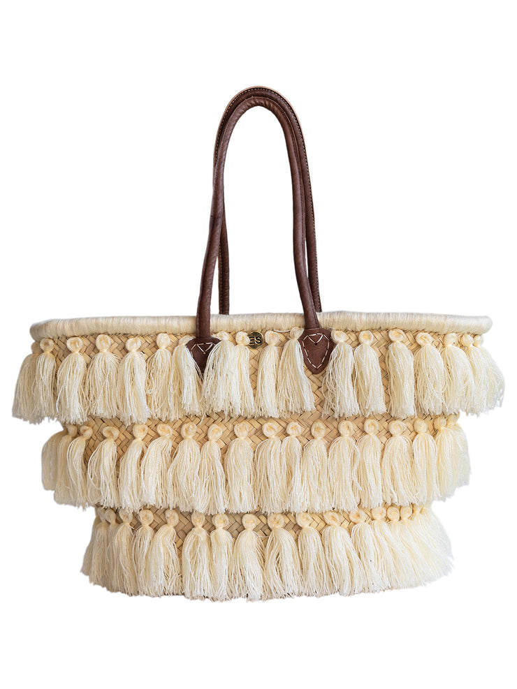 Moroccan Collection - Cream Tassels - Elizabeth Summer