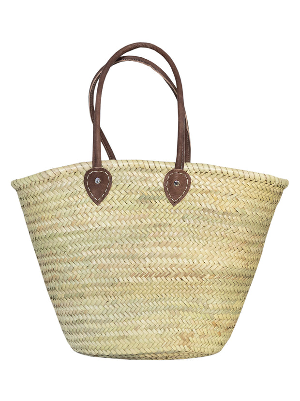 Monogram moroccan Basket - Personalised - Dark Handle Basket (Large)