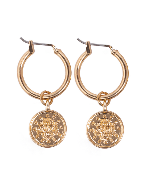 Coin Earrings - Elizabeth Summer