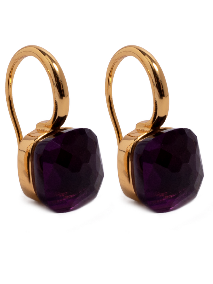 Earrings - Jewel - Dark Purple - Elizabeth Summer