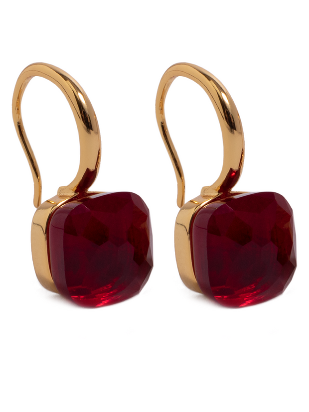 Earrings - Jewel - Dark Red - Elizabeth Summer