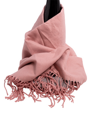 Reversible Warm Scarf - Pale pink / Light grey - Elizabeth Summer