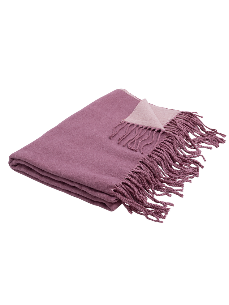 Reversible Warm Scarf - Purple / Pale pink - Elizabeth Summer